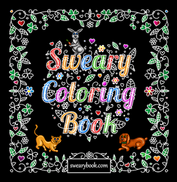 Sweary Coloring Book Page 00